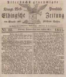 Elbingsche Zeitung, No. 42 Donnerstag, 26 Mai 1825