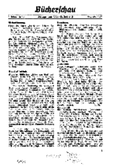 Bücherschau. Beilage zum NS-Volksdienst, 5. Jg. 1937, Dezember