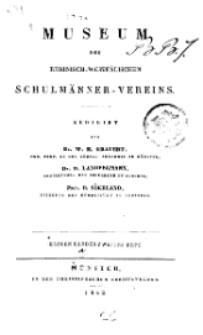 Museum des Rheinisch-Westfälischen Schulmänner-Vereins, 1842