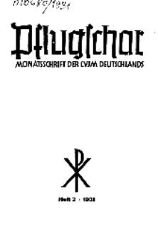 Die Pflugschar : Monatsschrift der CVJM Deutschlands, 13 Jg. 1931, Nr 2.