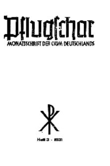 Die Pflugschar : Monatsschrift der CVJM Deutschlands, 13 Jg. 1931, Nr 3.