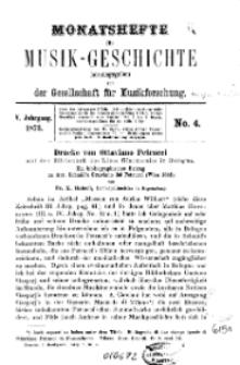 Monatshefte für Musik-Geschichte, Jg. V, 1873, No 4.