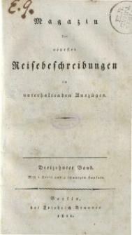 Magazin der neuesten Reisebeschreibungen in unterhaltenden Auszügen, Bd. 13, 1812