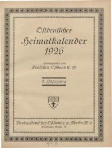 Ostdeutscher Heimatkalender, 1926, 5. Jahrgang