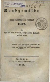 Politisches Rundgemälde oder kleine Chronik des Jahres 1832