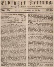 Elbinger Zeitung, No. 59 Donnerstag, 18. Mai 1843