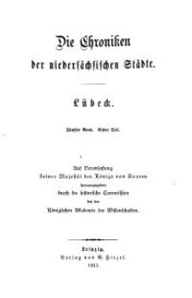 Die Chroniken der Deutschen Städte: T. 31. Bd. 5, Teil 1-2. Lübeck