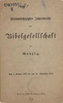 Fünfundsechzigster Jahresbericht der Bibelgesellschaft zu Danzig