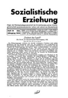 Sozialistische Erziehung, Heft 10, Oktober 1932
