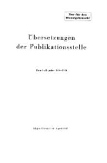 Übersetzungen der Publikationsstelle