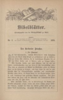 Bibelblätter, Nr. 2, 1876
