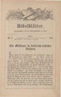 Bibelblätter, Nr. 4, 1876