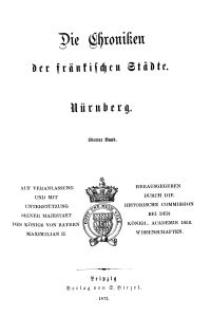 Die Chroniken der Deutschen Städte: T. 10. Bd. 4. Nürnberg