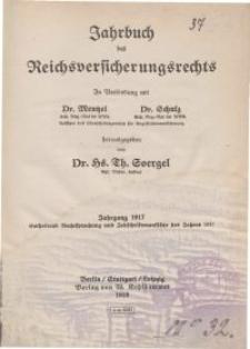 Jahrbuch des Reichsversicherungsrechts