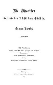 Die Chroniken der Deutschen Städte: T. 16. Bd. 2. Braunschweig