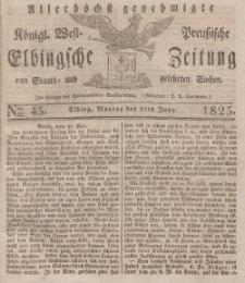 Elbingsche Zeitung, No. 45 Montag, 6 Juni 1825