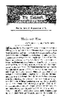 Die Zukunft, 28. September, Bd. 36.