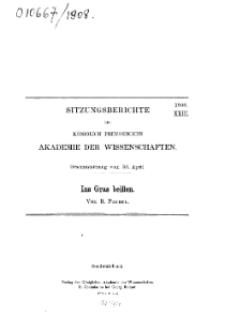 ...1908, XXIII, Gesammtsitzung vom 30. April, R. Pischel, Ins Gras beißen