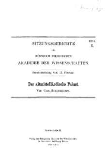 ...1914, X, Gesammtsitzung vom 19. Februar, C. Schuchardt, Der altmittelländische Palast