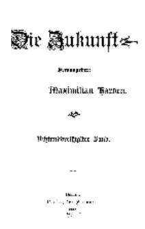 Die Zukunft, 4. Januar, Bd. 38.