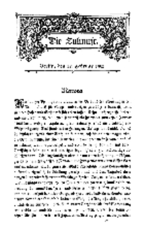 Die Zukunft, 22. Februar, Bd. 38.