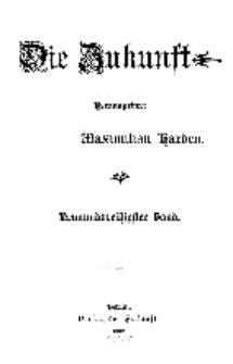 Die Zukunft, 5. April, Bd. 39.
