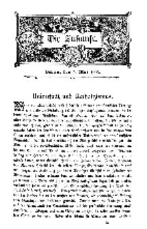 Die Zukunft, 3. Mai, Bd. 39.