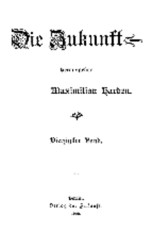 Die Zukunft, 5. Juli, Bd. 40.