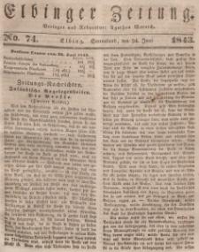 Elbinger Zeitung, No. 74 Sonnabend, 24. Juni 1843