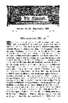 Die Zukunft, 20. September, Bd. 40.