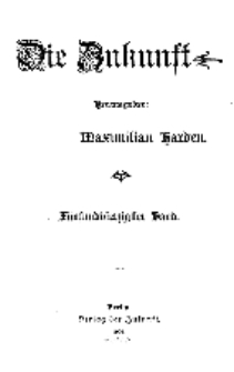 Die Zukunft, 3. October, Bd. 45.