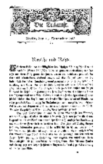 Die Zukunft, 14. November, Bd. 45.
