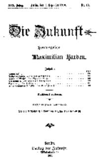 Die Zukunft, 3. Dezember, Jahrg. XVI, Bd. 73, Nr 10.