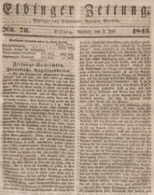 Elbinger Zeitung, No. 78 Montag, 3. Juli 1843