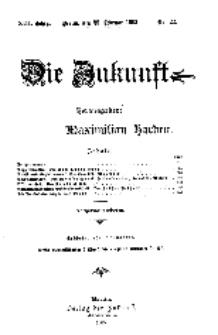 Die Zukunft, 25. Februar, Jahrg. XIII, Bd. 50, Nr 22.