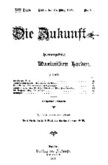 Die Zukunft, 25. März, Jahrg. XIII, Bd. 50, Nr 26.