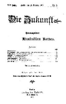 Die Zukunft, 19. Oktober, Jahrg. XVI, Bd. 61, Nr 3.