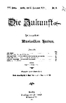 Die Zukunft, 23. November, Jahrg. XVI, Bd. 61, Nr 8.