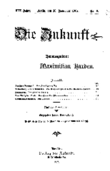 Die Zukunft, 7. Dezember, Jahrg. XVI, Bd. 61, Nr 10.