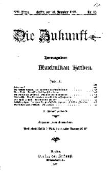 Die Zukunft, 28. Dezember, Jahrg. XVI, Bd. 61, Nr 13.