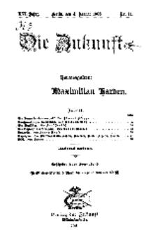 Die Zukunft, 4. Januar, Jahrg. XVI, Bd. 62, Nr 14.