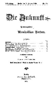 Die Zukunft, 11. Januar, Jahrg. XVI, Bd. 62, Nr 15.