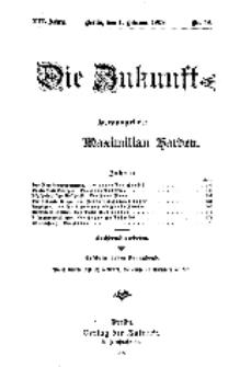 Die Zukunft, 1. Februar, Jahrg. XVI, Bd. 62, Nr 18.