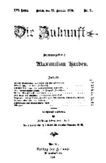 Die Zukunft, 22. Februar, Jahrg. XVI, Bd. 62, Nr 21.