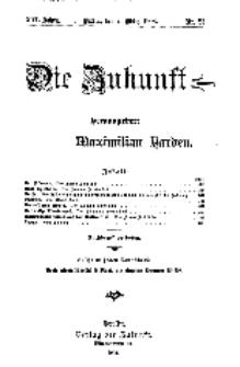 Die Zukunft, 7. März, Jahrg. XVI, Bd. 62, Nr 23.