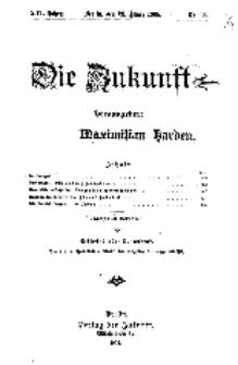 Die Zukunft, 28. März, Jahrg. XVI, Bd. 62, Nr 26.