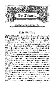 Die Zukunft, 17. Januar, Bd. 42.