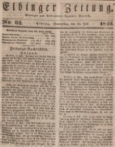 Elbinger Zeitung, No. 82 Donnerstag, 13. Juli 1843