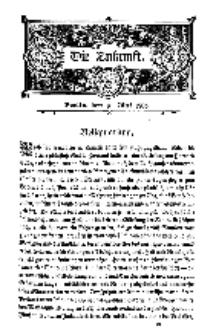Die Zukunft, 16. Mai, Bd. 43.