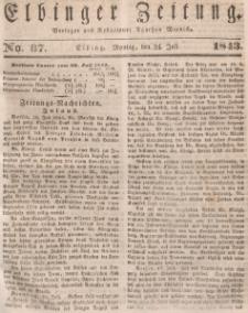 Elbinger Zeitung, No. 87 Montag, 24. Juli 1843